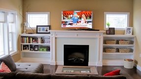 Electric Fireplace With Bookshelves - Foter