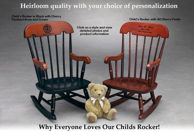 Beau Kids Wooden Rocking Chair 1