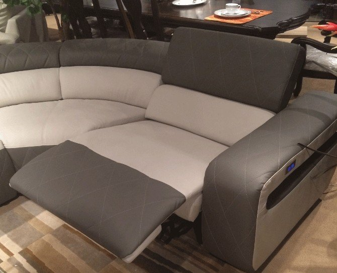 Leather Sectionals Modern Sectional With Motorized Recliners Bm01 5