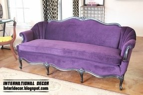 Luxury purple sofa for living room velvet purple sofa