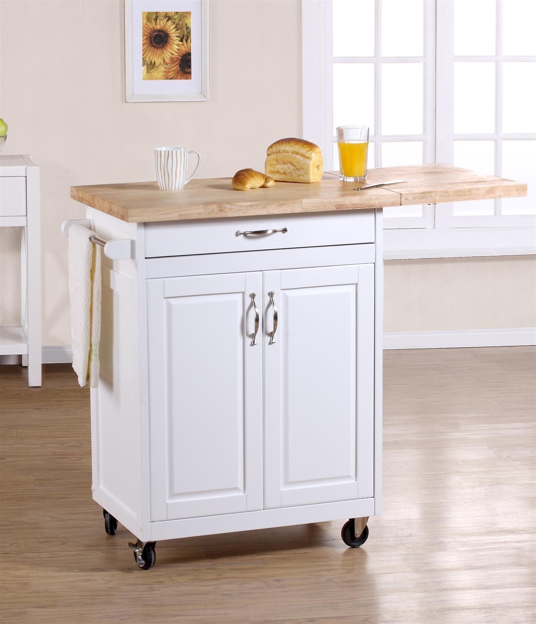 Elegant Mainstays Kitchen Island Cart Multiple Finishes 2