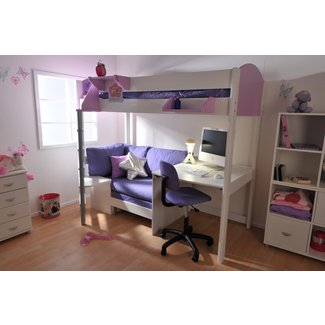 Bunk Bed With Desk And Futon Ideas On