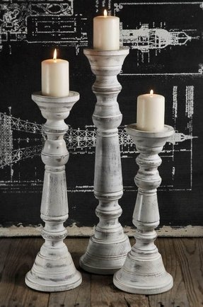 Pillar candle holder set of 3 1