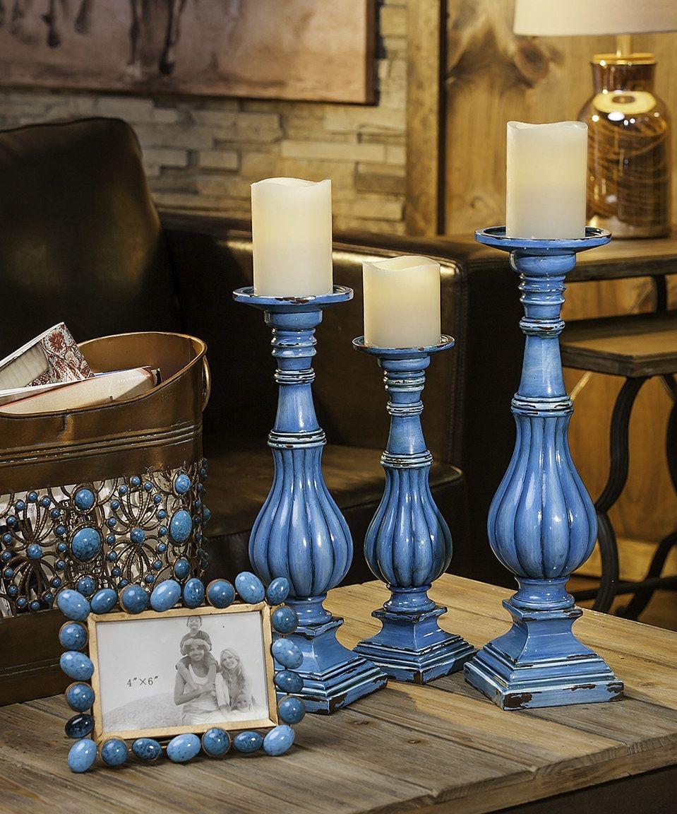 Pillar Candle Holder Set Of 3 Ideas On Foter