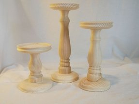 Pillar candle holder set of 3 2