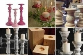 Pillar candle holder set of 3