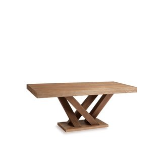 rectangular kitchen table with pedestal base