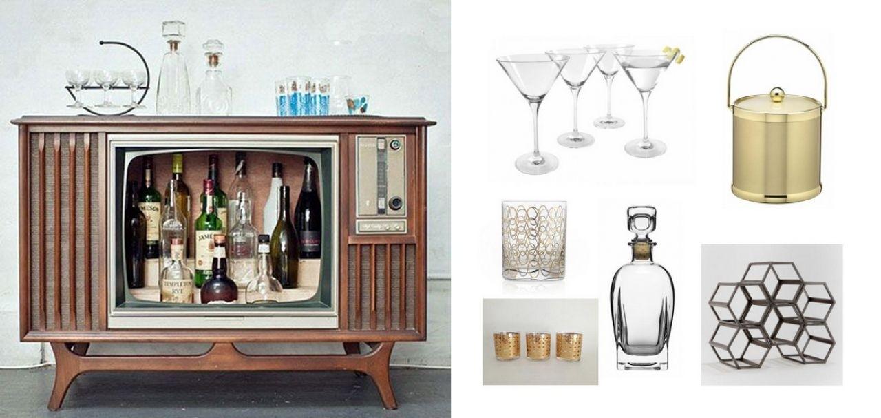 Marvelous Retro Tv Console Conversion To Liquor Cabinet Style Home Bar