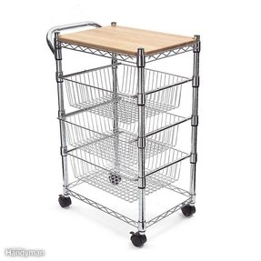 Rolling Butcher Block Cart 2
