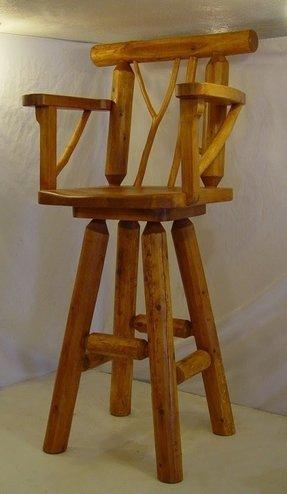 Rustic Pine Bar Stools 2