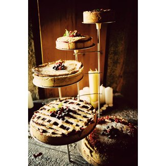 Rustic Wood 3 Tier Stand