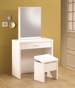 Admirable White Vanity Desk With Mirror Ideas On Foter Ncnpc Chair Design For Home Ncnpcorg