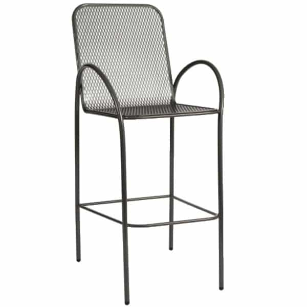 This Wrought Iron Patio Bar Stool Features A Lightweight Modern
