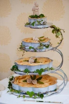 Tiered pie stand