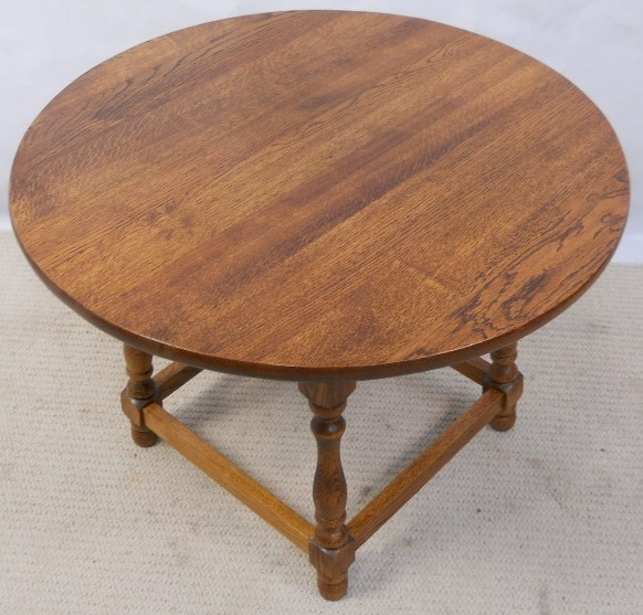 Antique Style Round Oak Coffee Table