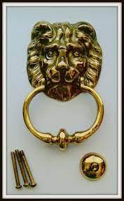 Beautiful Brass Lion Head Door Knocker Vintage From 1970s Never