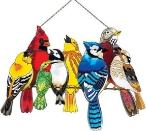Birds on a wire stained glass 5