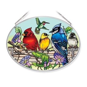Birds on a wire stained glass 8