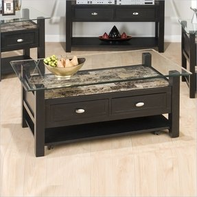Black Coffee Table With Glass Top 3