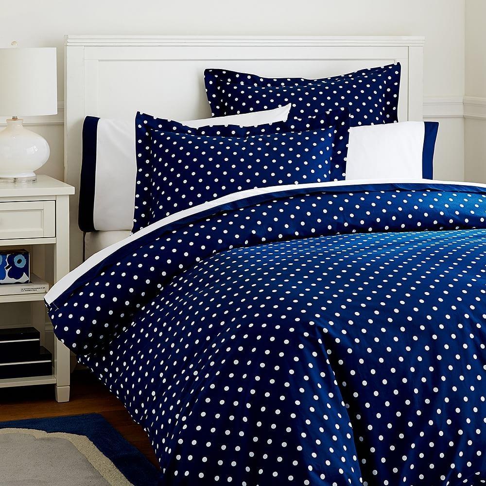 Bon Blue Polka Dot Bedding 8