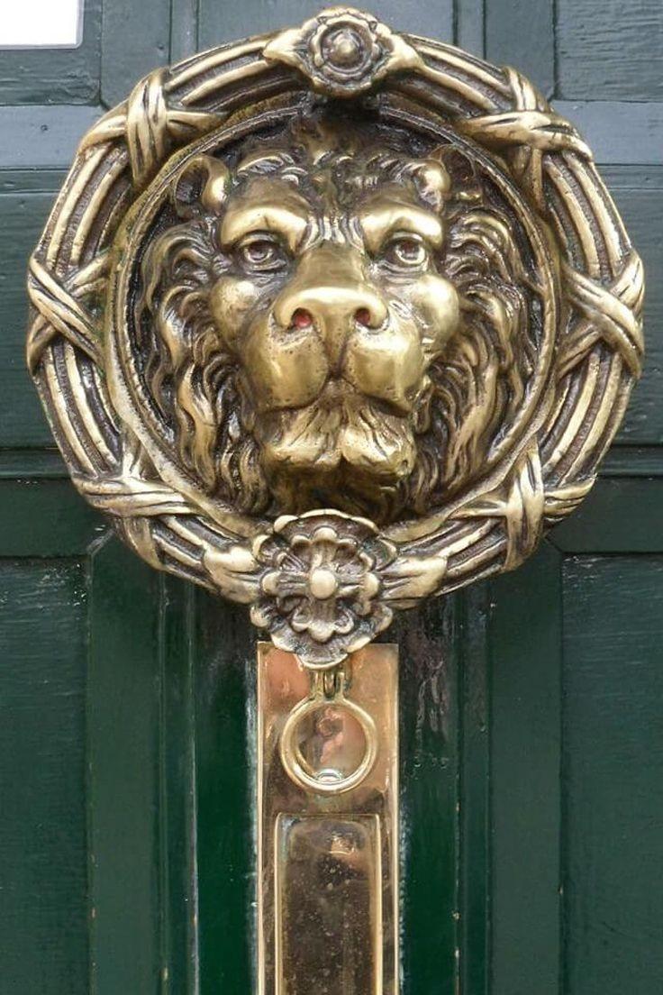 Brass Lion Head Door Knocker 2