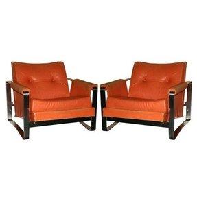 orange armchairs foter