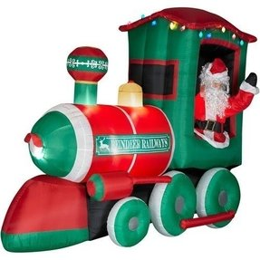 christmas train decoration outdoor - Santa Train Outdoor Christmas Decoration