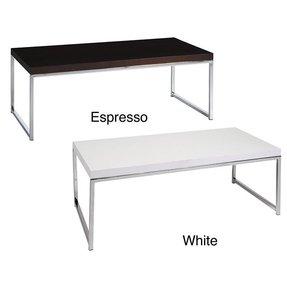 Wood top coffee table metal legs foter coffee table w wood grain top reflective chrome plated metal watchthetrailerfo