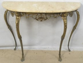 Console table with marble top