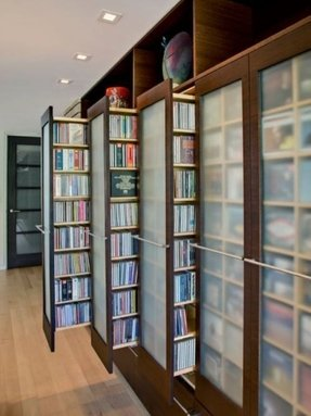 Dvd storage cabinet with sliding doors