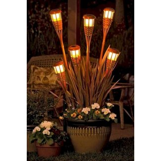 Electric tiki torches