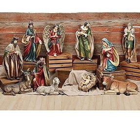 Extra Large Christmas Nativity Set Of 11 Figures