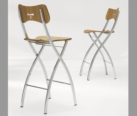 Charmant Folding Stools With Back