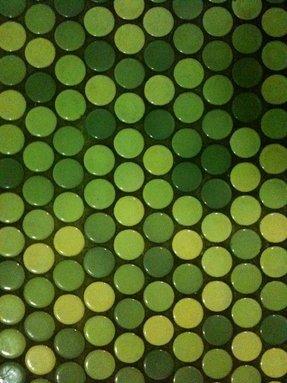Green penny tile 25