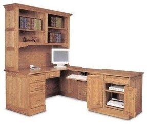Terrific Oak L Shaped Desk Ideas On Foter Home Interior And Landscaping Ponolsignezvosmurscom