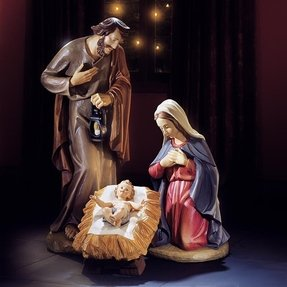 "Joseph Mary and Baby Jesus 3 Piece Nativity Set 40"" Statues for Christmas Display"