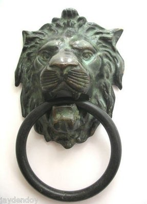 Large lion head door knocker