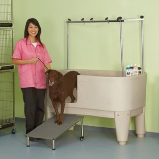 Master equipment polypro dog grooming tub 1