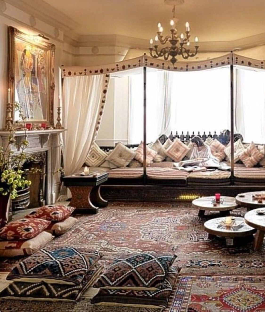 Charming Moroccan Living Room Furniture