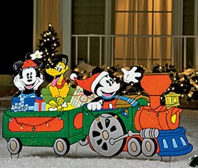 outdoor christmas train decoration 1 - Christmas Train Yard Decoration