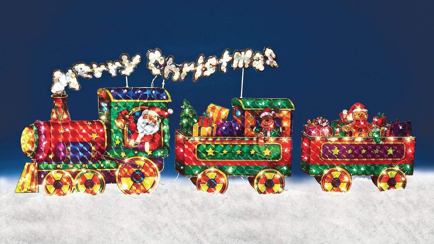 outdoor christmas train decoration foter - Hologram Outdoor Christmas Decorations