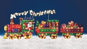 Outdoor christmas train decoration 3