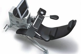 Reclining chair with footrest