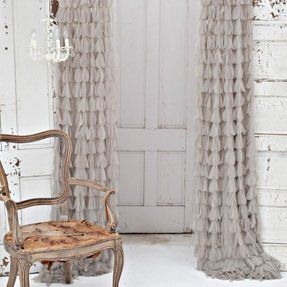 Ruffle curtain panels 1