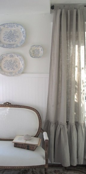 Shabby chic blackout curtains
