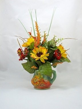 Silk sunflower arrangements 7