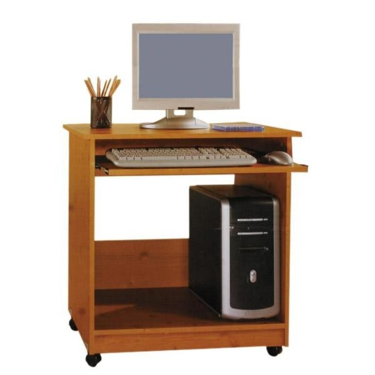 Small Computer Desk With Castors And Keyboard Tray Office Desks
