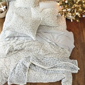 Snow leopard print sheets