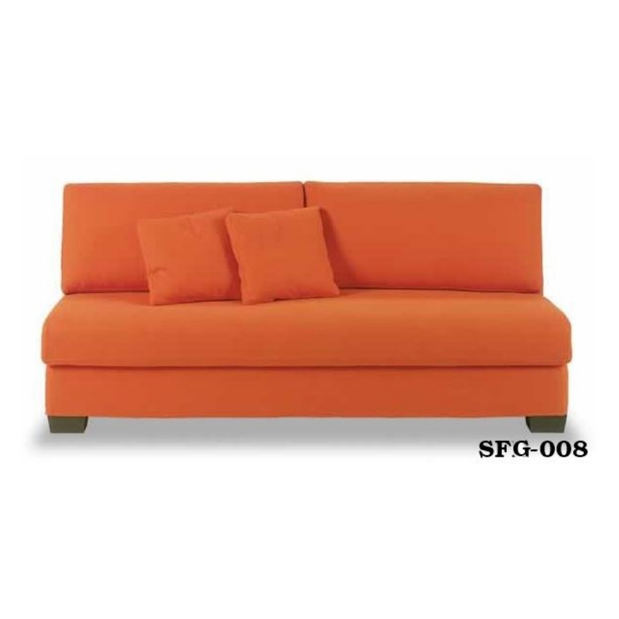 Square armless sofabed