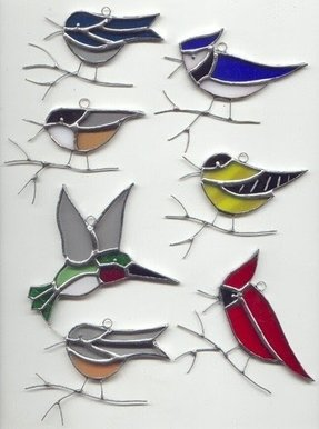 Birds On A Wire Stained Glass Foter